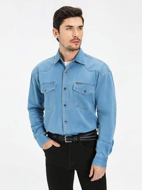 Джинсовая рубашка мужская Velocity PRIME 16-B28 голубая XXL