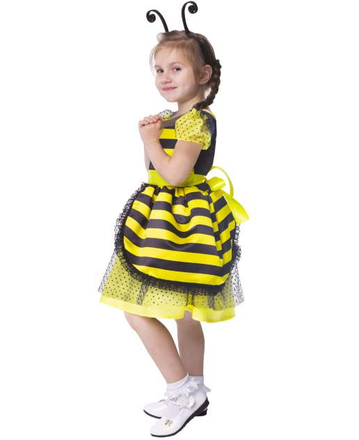 Карнавальный костюм Батик Пчела, цв. желтый; черный р.128