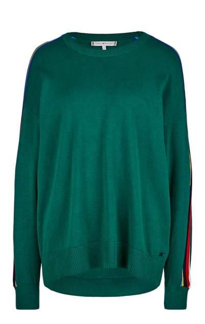 Джемпер женский Tommy Hilfiger WW0WW24403 290 evergreen, зеленый, разноцветный