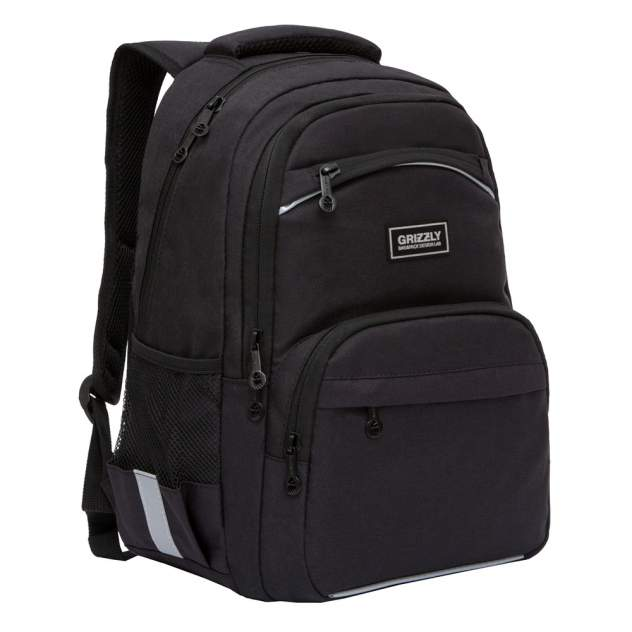 Рюкзак школьный для мальчика Grizzly RB-054-6 черный