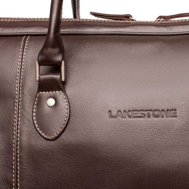 Дорожная сумка кожаная Lakestone Davis коричневая 50 x 31 x 27