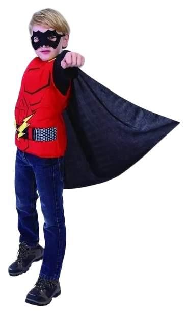 Карнавальный костюм Snowmen Человек-Огонь, цв. красный; черный р.140