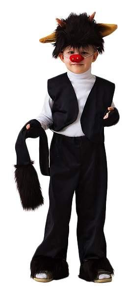Карнавальный костюм Бока Чертенок, цв. черный р.122