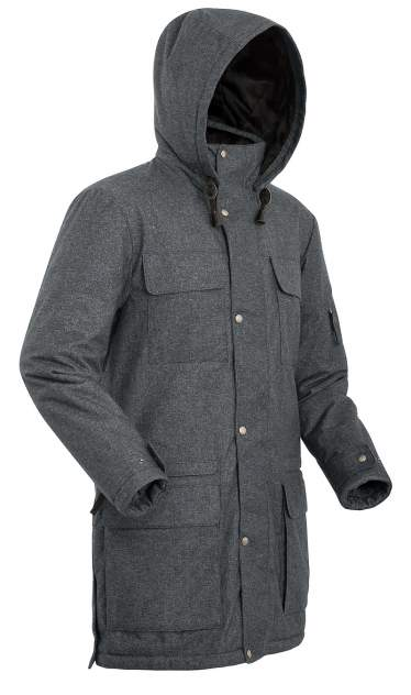 Пальто  SHL FORESTER 8001-9609-050 СЕРЫЙ ТМН 50