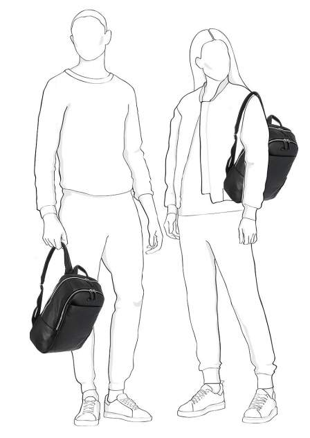 Рюкзак мужской Piquadro CA3214MO черный