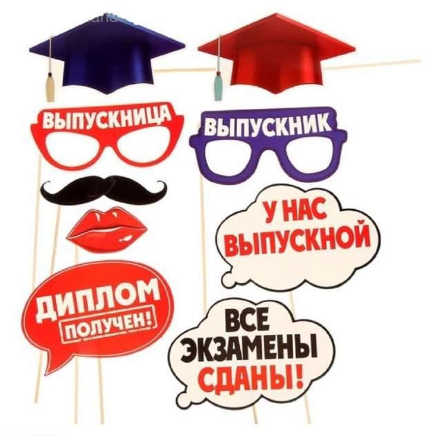 Аксессуары для фотосессии на палочке Выпускной Sima-land s1600489
