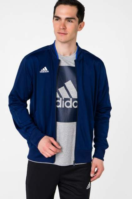 Бомбер мужской Adidas CF4310 синий 44