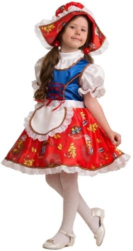 Карнавальный костюм JEANEES Красная Шапочка, цв. разноцветный р.110