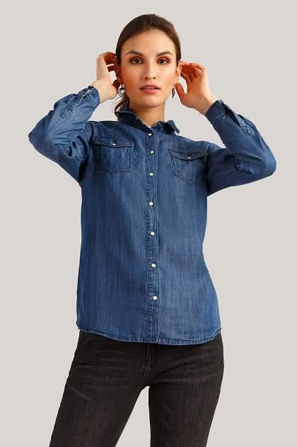 Женская джинсовая рубашка Finn Flare B19-15015, синий