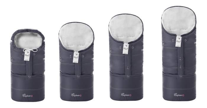 Конверт-мешок для детской коляски Esspero В коляску Transformer White grey