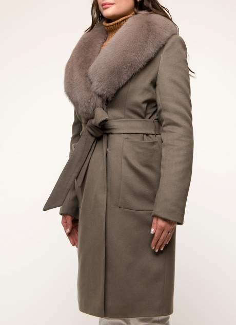 Пальто женское idekka д-1810 коричневое 44 RU