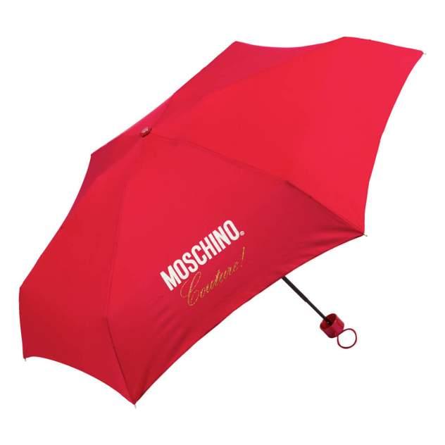 Зонт складной женский механический MOSCHINO 8014-superminiC красный