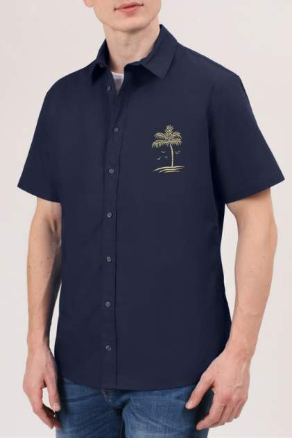 Рубашка мужская Tom Farr TM7005.67 синяя L
