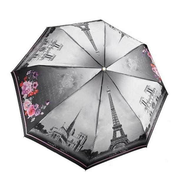 Зонт складной женский автоматический Три Слона 145-P-01 серый