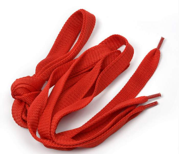 Шнурки для обуви плоские 14мм х 120см красные 10 комплектов