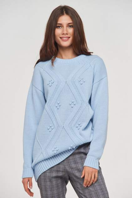 Свитер женский VAY 192-4067 голубой 52 RU