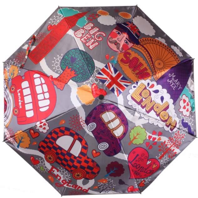 Зонт складной женский автоматический Flioraj 013-043FJ разноцветный