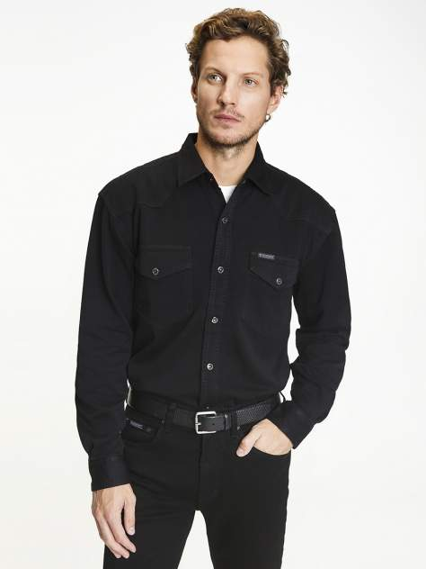 Джинсовая рубашка мужская Velocity PRIME 16-H черная L
