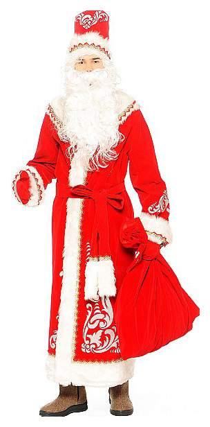 Карнавальный костюм Батик Дед Мороз, цв. красный р.176