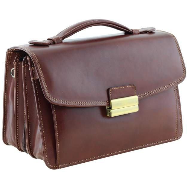 Барсетка мужская Tony Perotti 271150 коричневая