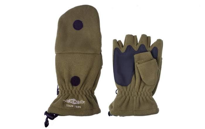 Перчатки-варежки мужские Mikado UMR-08G, зеленые, M