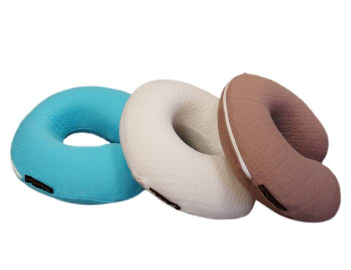 Дорожная подушка SleepMaker 352737 синяя, 35x27 см