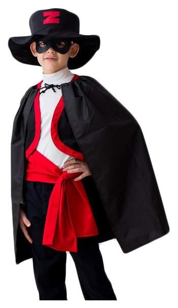 Карнавальный костюм Бока Зорро, цв. черный р.122