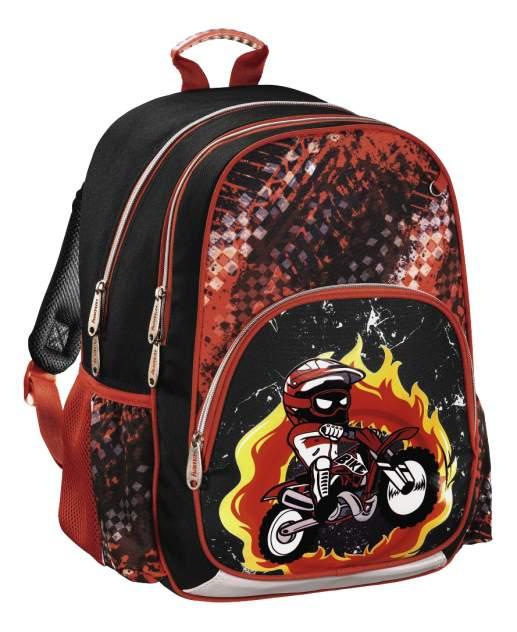 Рюкзак детский Hama Motorbike 14 л черный красный 00139086