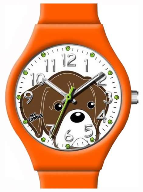 Детские наручные часы My Family Боксер коричневый с белым