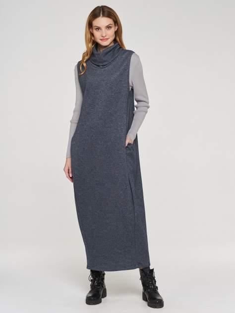 Платье женское VAY 182-3458 синее 56 RU