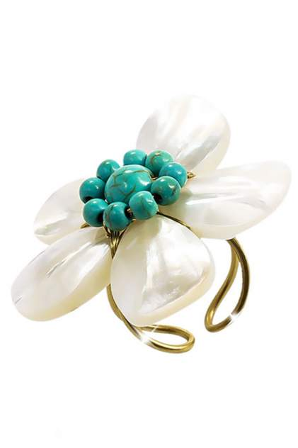 Кольцо женское ViviTrend Цветок (безразмерное) 59435 золотистое