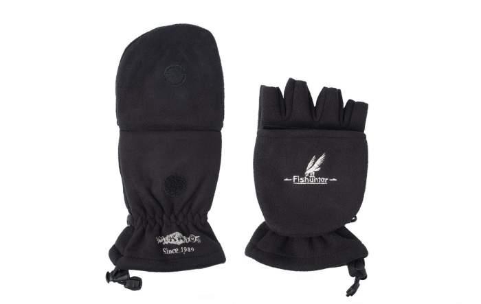 Перчатки-варежки мужские Mikado UMR-08B, черные, L