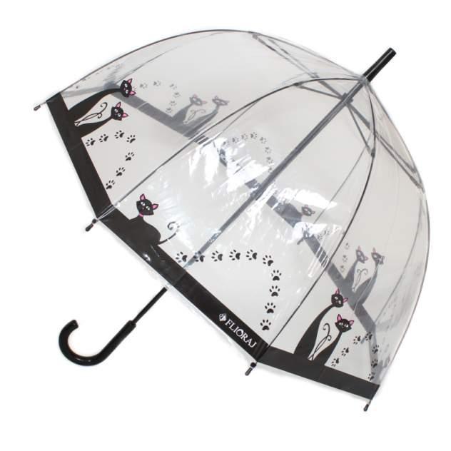 Зонт-трость женский механический Flioraj 121205 FJ белый