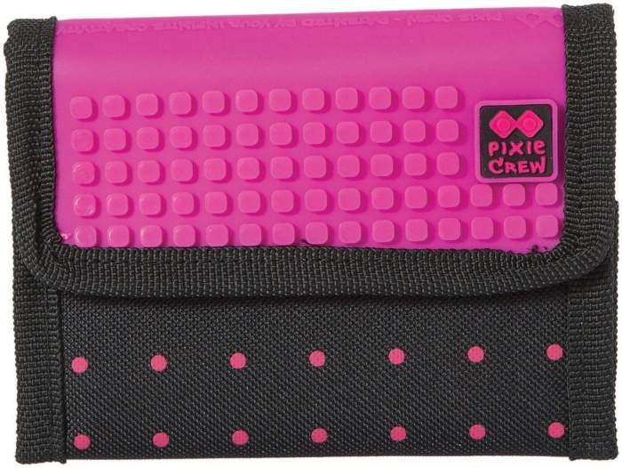 Кошелек женский Pixie PXA-10-17 черный/розовый