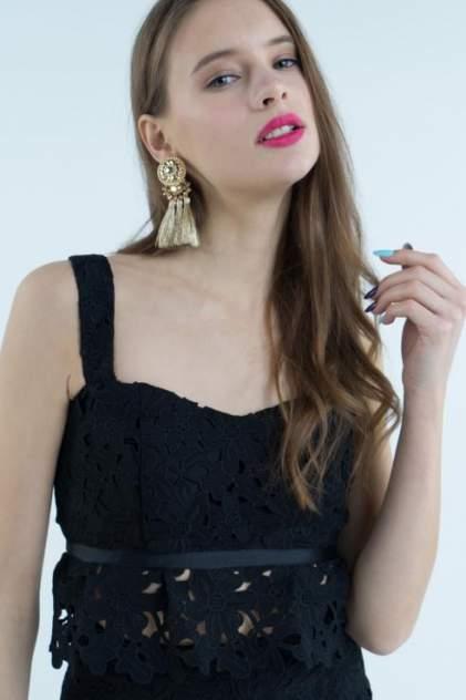 Топ женский T-Skirt 16SS-04-0110-FS черный 42 RU