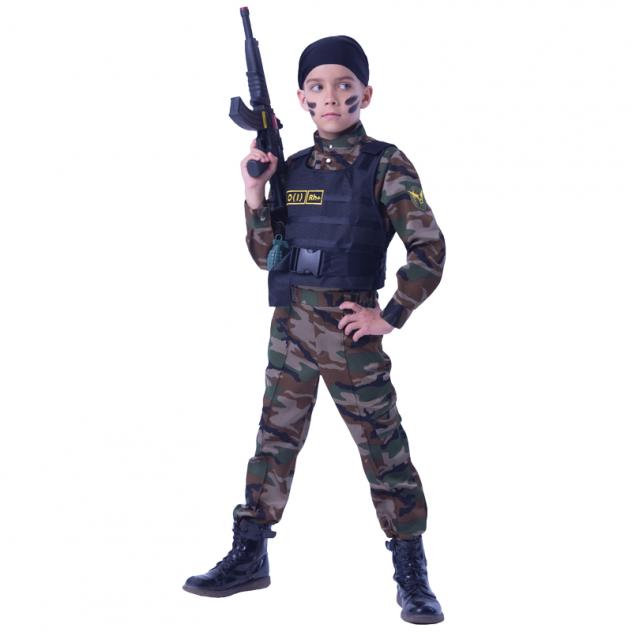 Карнавальный костюм Батик Военный, цв. хаки р.122