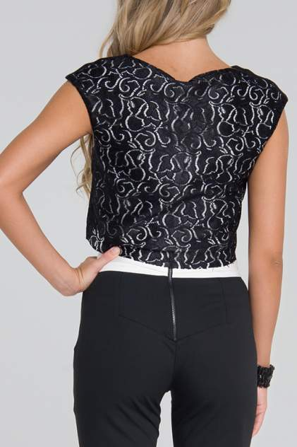 Блуза женская Gloss 13108(05) черная 40 RU