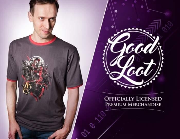 Футболка Good Loot Marvel Infinity War Avengers серая L