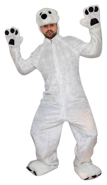 Карнавальный костюм Бока Медведь, цв. белый р.180