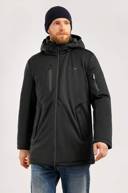 Пальто мужское Finn Flare W19-42017 черное 3XL