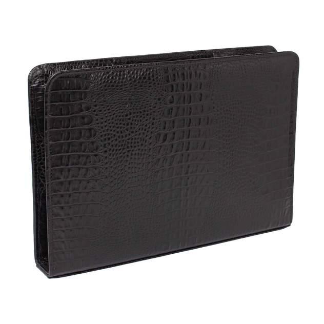Папка для документов кожаная Lakestone Elton 961007M/BLC черная