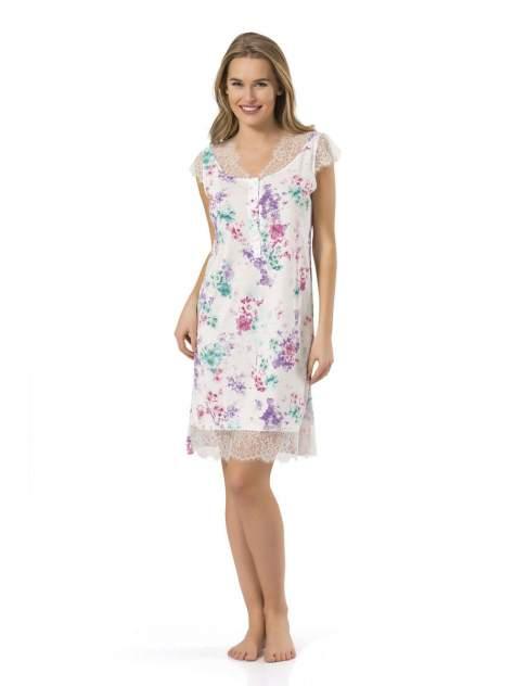 Ночная сорочка женская Turen 3265 белая/разноцветная XL