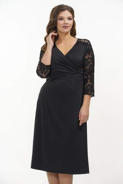 Платье женское VAY 181-3418 черное 54 RU