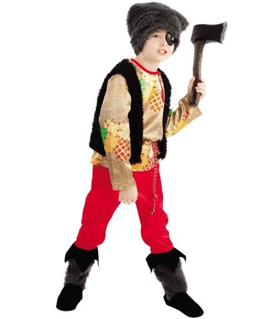 Карнавальный костюм Батик Разбойник, цв. бежевый; красный; черный р.140