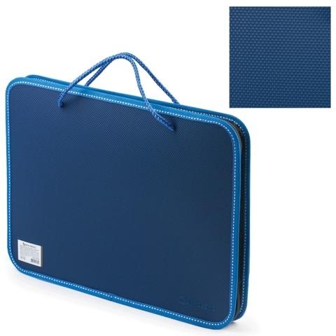 Папка для документов Brauberg A4 синяя