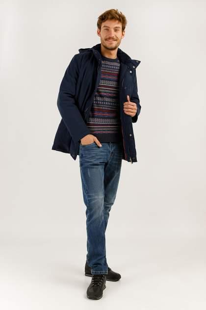 Пальто мужское Finn Flare A19-21034 синее M