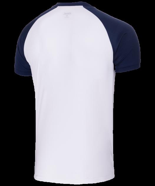 Футболка Jogel JFT-1011-019, белый/темно-синий, M INT
