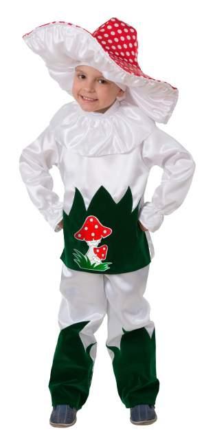 Карнавальный костюм Батик Гриб, цв. белый; красный р.128