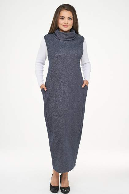 Платье женское VAY 182-3458 синее 52 RU