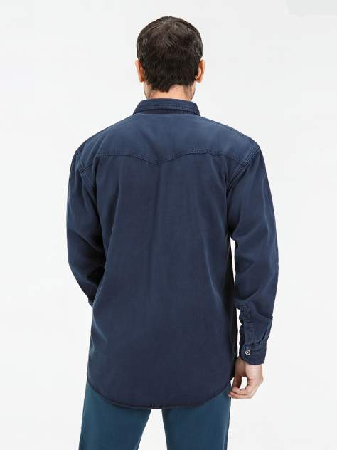 Джинсовая рубашка мужская Velocity PRIME 16-V03N синяя S